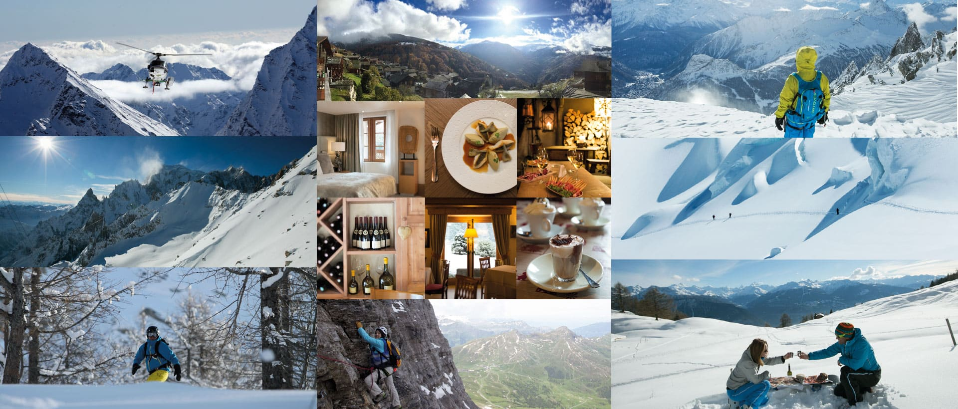 Luxury Snow Vacation Collage