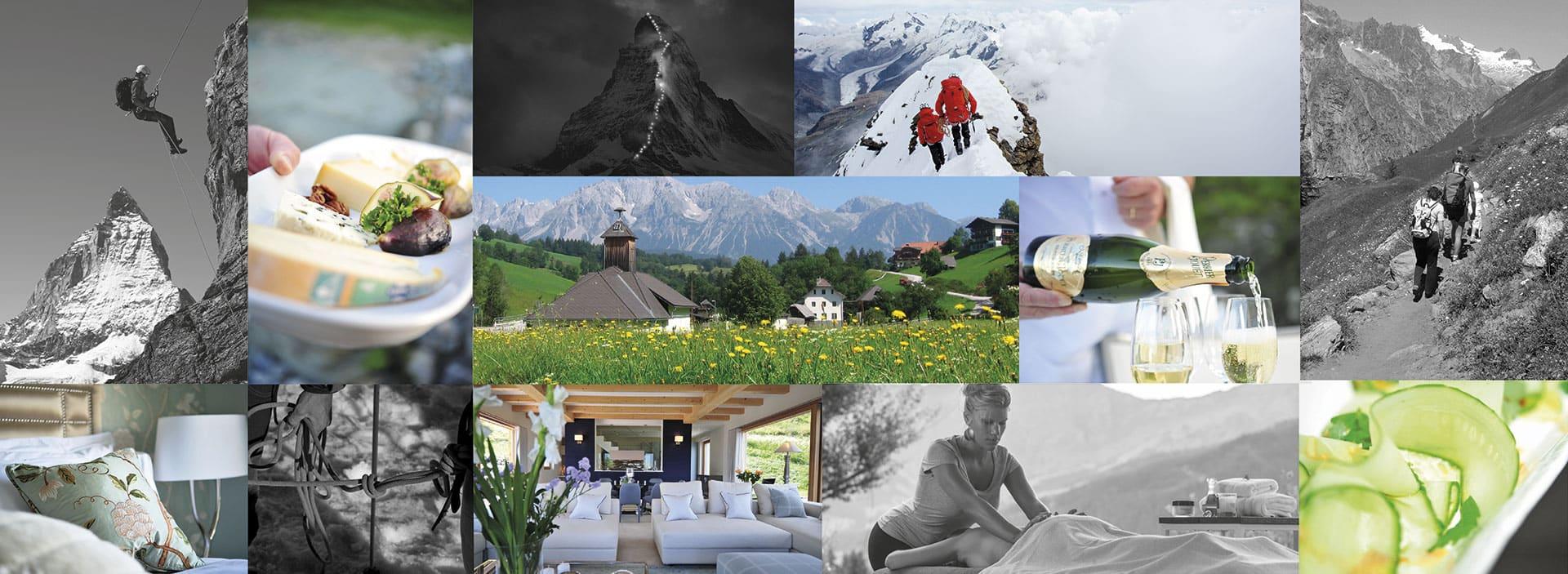 Luxury Alpine Vacation Collage