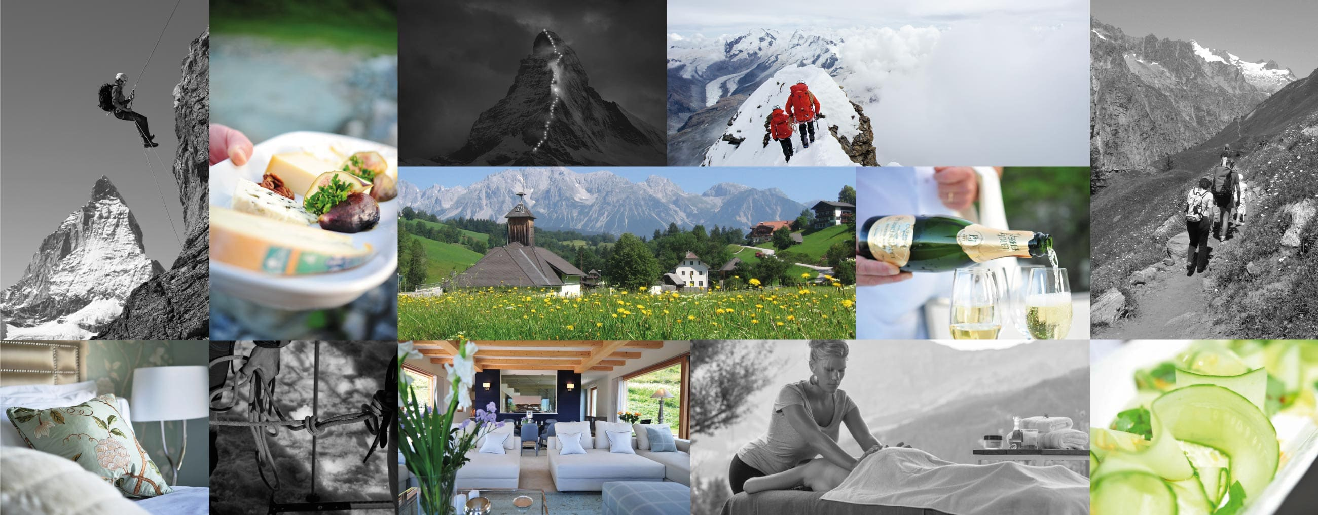 Luxury Alpine Vacation Collage