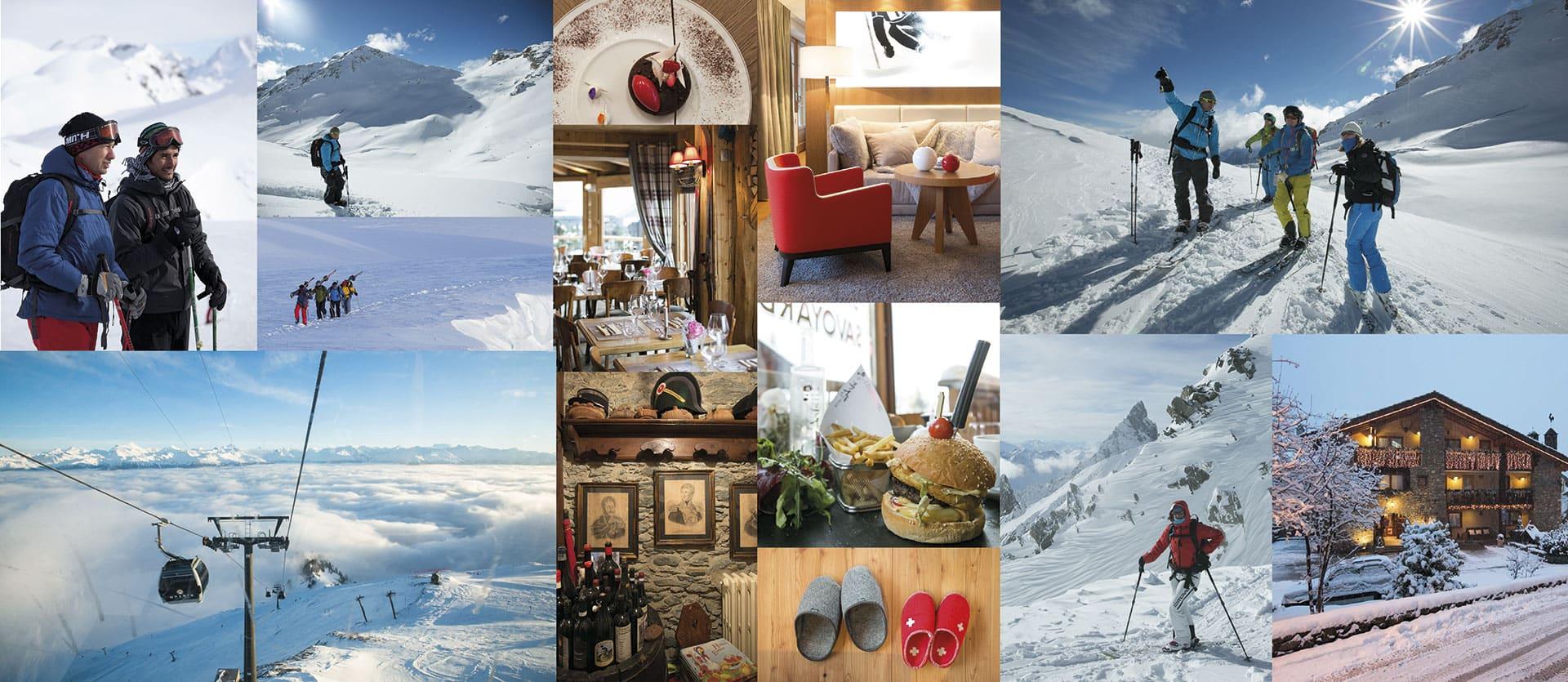 Alpine Skiing Collage