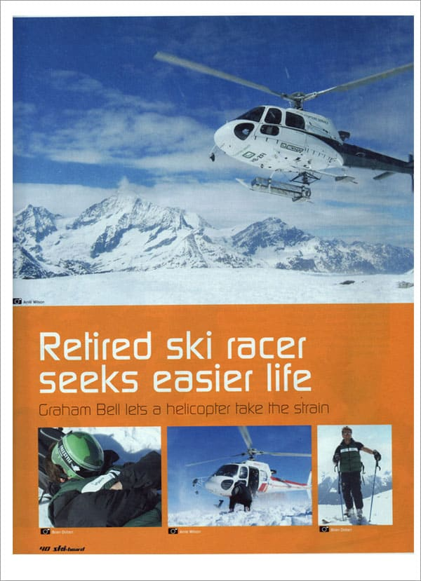SKI AND BOARD UK - Retired ski racer seeks easier life