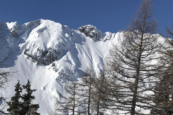 Luxury powder skiing in the alps