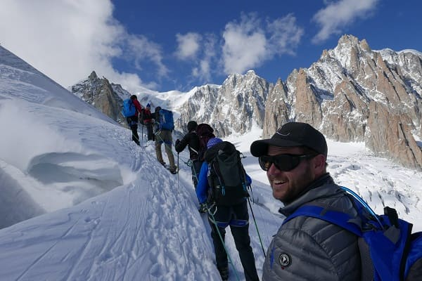 Ski touring group